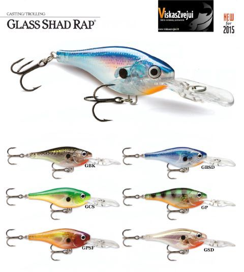 VOBLERIS GLASS SHAD RAP NEW