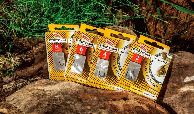 Kabliukai/HOOKS TO NYLON FOR CARP FISHING
