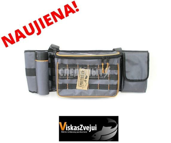 Krepšys SLEDOPIT Fishing Belt Bag 74x22x10cm pilka