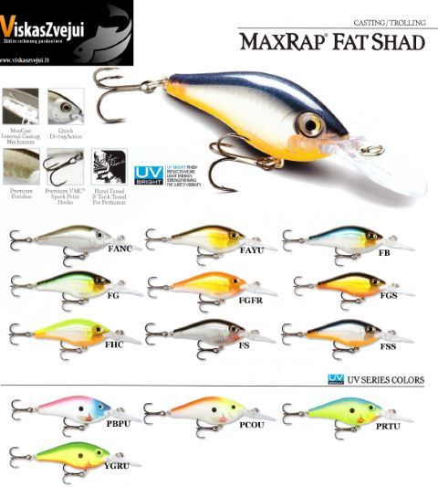 VOBLERIS MAXRAP FAT SHAD