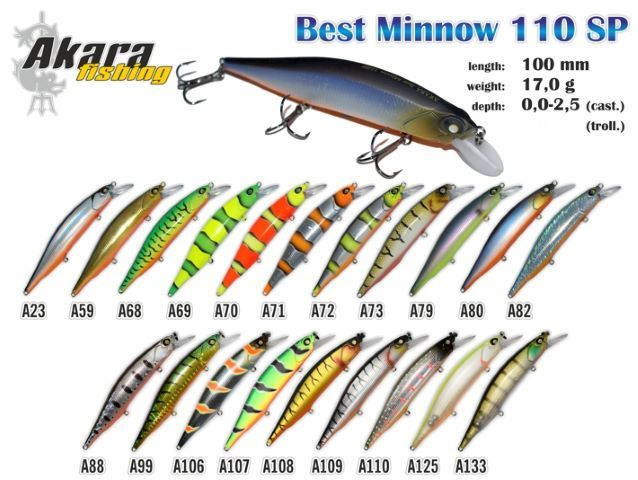 Vobleris AKARA «Best Minnow» 110 SP