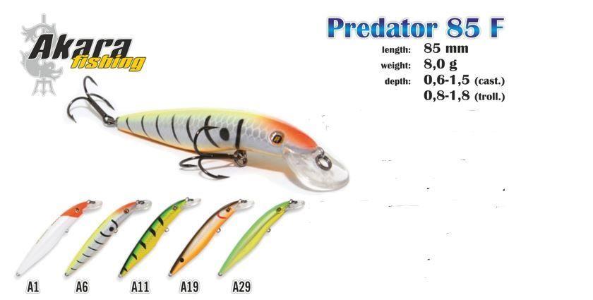 Wobbler Akara Predator 85 F