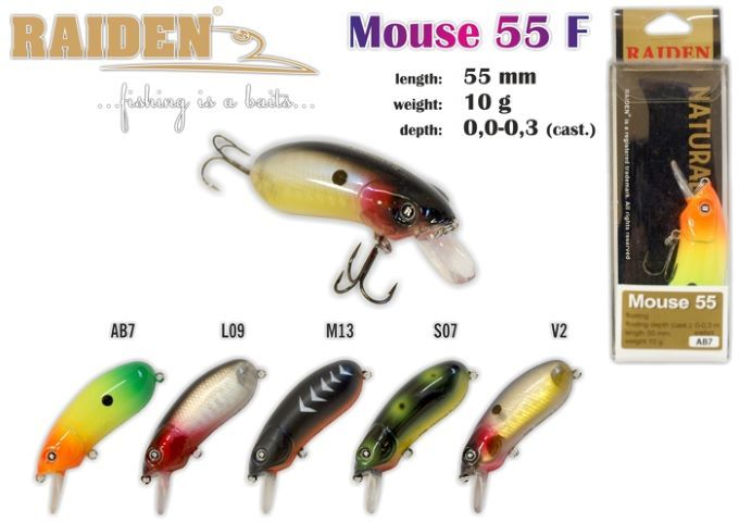 Vobleris RAIDEN «Mouse» 55 F