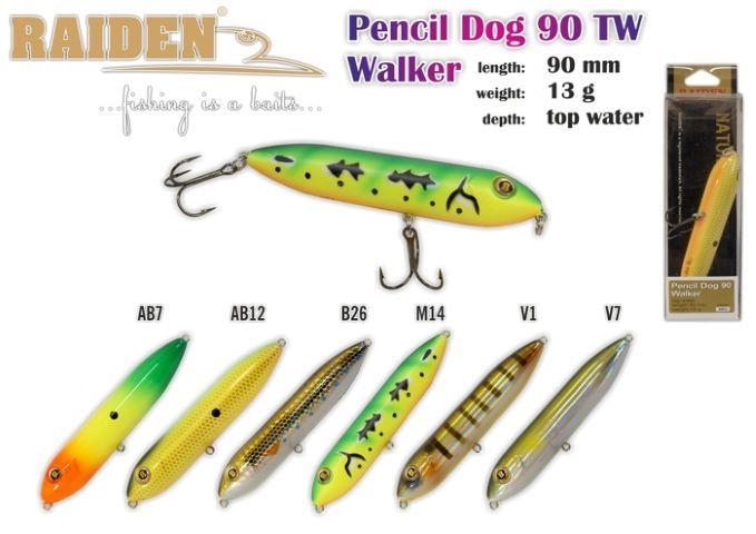 Vobleris RAIDEN «Pencil Dog Walker» 90 TW