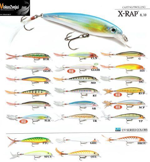 Rapala X-RAP 8-10 cm