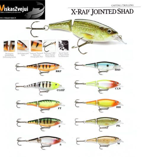 VOBLERIS X-RAP JOINTED SHAD